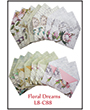 1032088 - 8 precut cards and matching envelopes - Floral Dreams